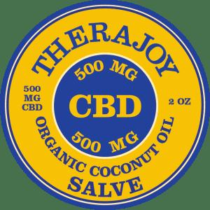 TheraJoy Organic CBD Salve 2 oz 500 mg CBD