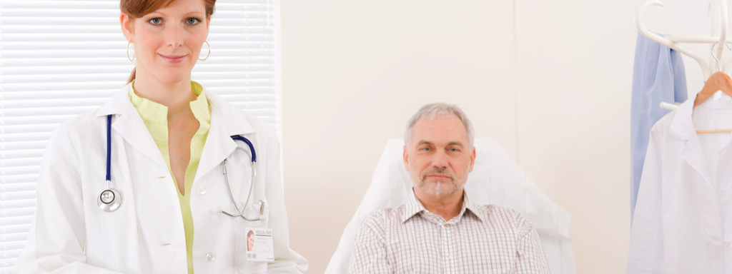Doctor and older patient, Credit: Stock Photography