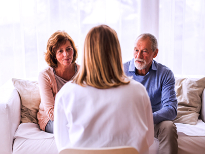 Doctor Talks To Seniors, Credit: Stock Photography