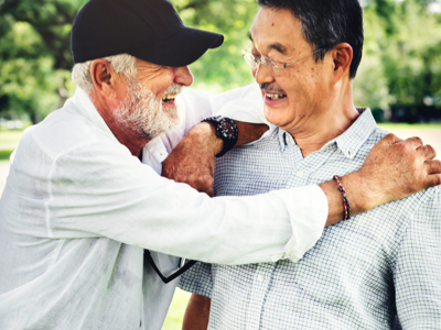 Senior Men Talking, Credit: Stock Photography