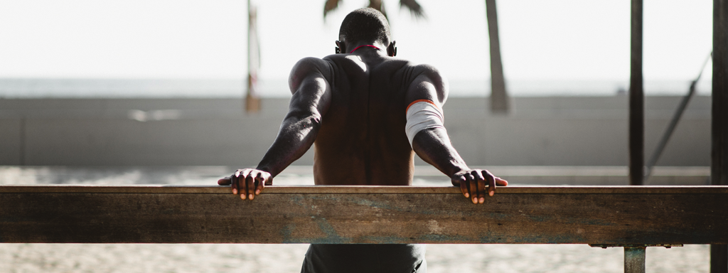 Back Stretch after Workout, Credit: Stock Photography