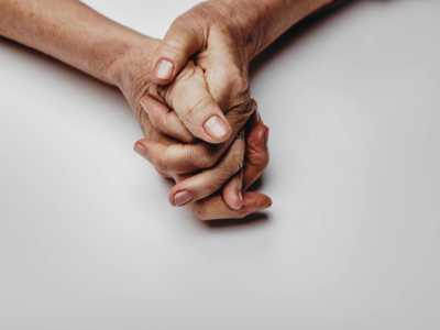 Senior woman's hands, Credit: Stock Photography