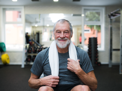 Fit senior man in sports clothing, Credit: Stock Photography