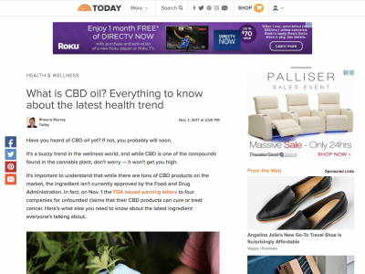 TODAY, What is CBD oil? Everything to know about the latest health trend