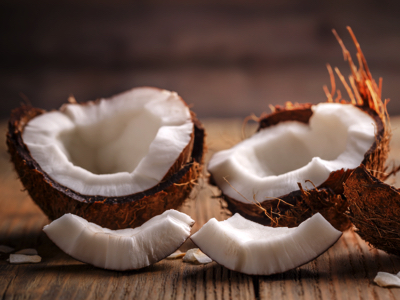 Cracked Coconuts, Credit: Stock Photography