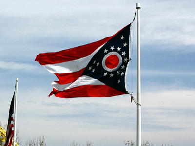 Ohio Flag, Credit: Jeff Kubina, Flickr, April 11, 2006