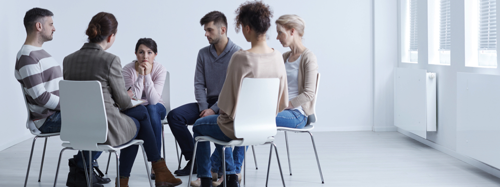 Group Therapy In Rehab, Credit: Stock Photography