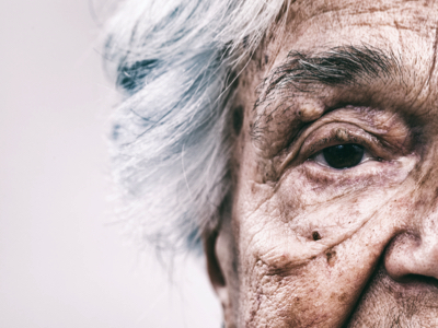 Senior Woman Eye Close-Up, Credit: Stock Photography