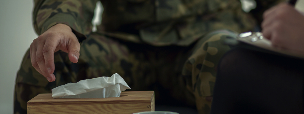 Military With Tissues, Credit: Stock Photography