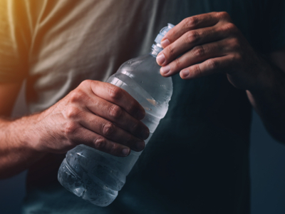 CBD Water In Bottle, Credit: Stock Photography