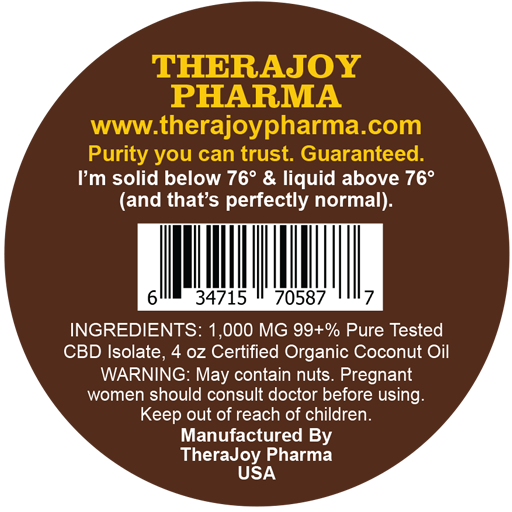 TheraJoy CBD Salve (1000 mg CBD/4 oz )